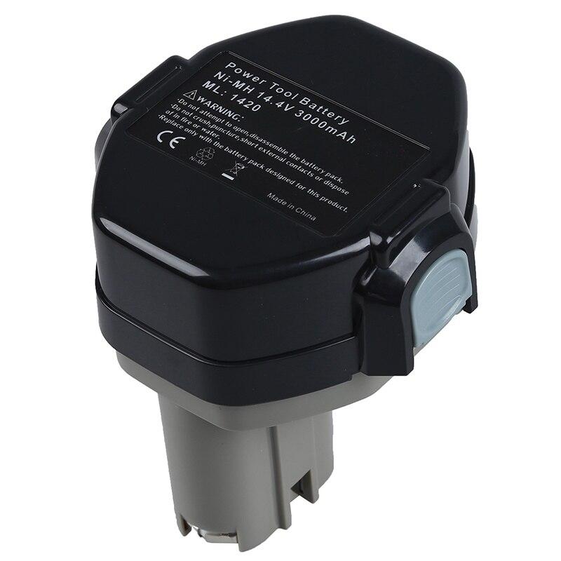 AABB-14.4 V Batterie Für MAKITA 1433 1434 Makita 6233D 4033D 6333D 6336D 6337D 8433D, schwarz + grau