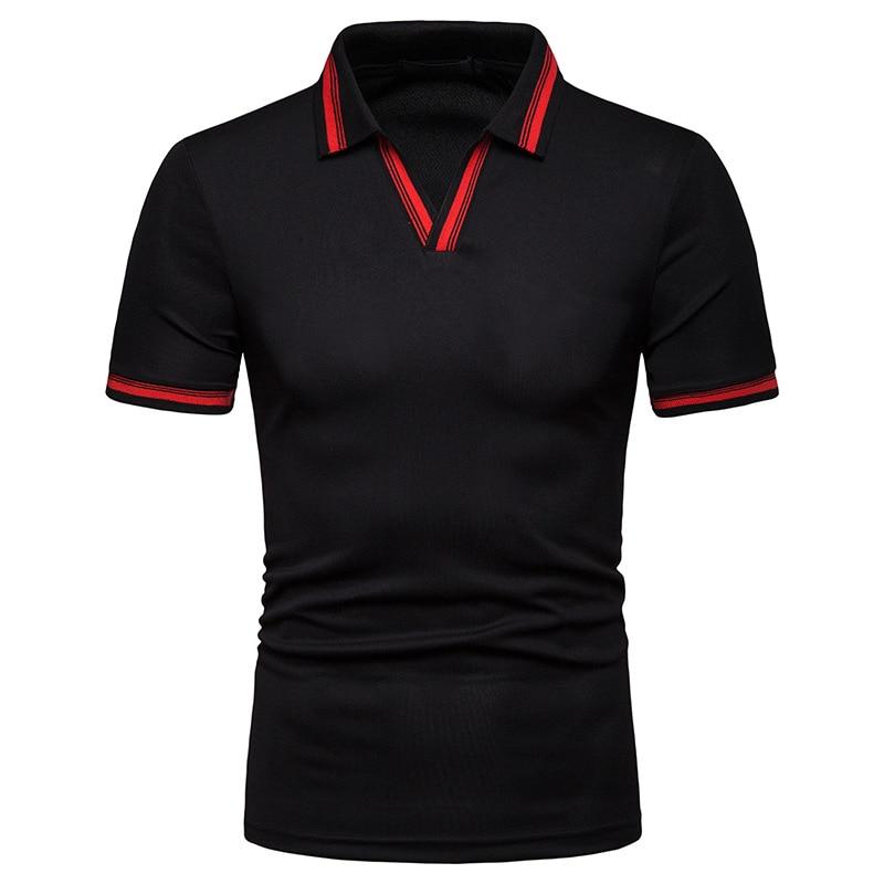 Nuevo Polo de primavera para hombre, camisa Polo informal de manga corta con cuello a la moda para hombre, polo de talla grande S-XXL