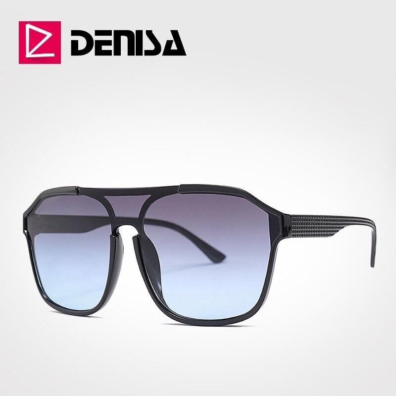 DENISA Square Big Sunglasses For Women Oversized Sunglasses Men 2019 UV400 Protection Sun Glasses Fo