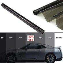 Film de teinte pour vitres de voiture   Kit de rouleau de teinte de voiture, autocollant en verre 600 VLT, ombrage de soleil, résistant aux rayures, pour la maison de lautomobile, 50x 30% cm