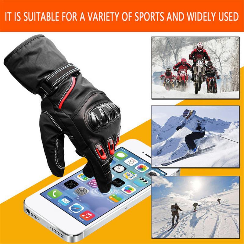 Guantes cálidos de ciclismo para moto para hombre, guantes de terciopelo para montar, guantes antideslizantes para Kawasaki, guantes de carreras de Motocross