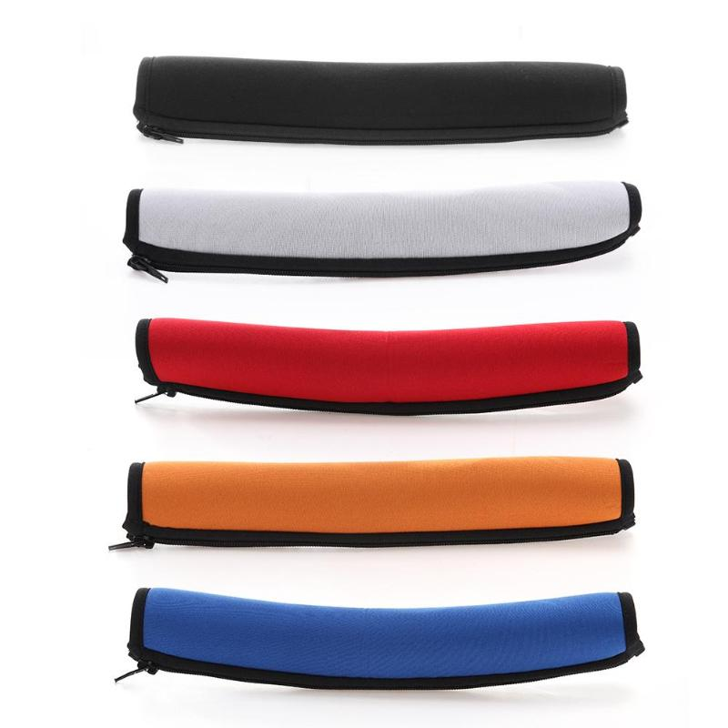 ALLOYSEED Neoprene Zipper Headband Cover Case For Audio Technica ATH-MSR7 M50X M40X M30X Headphone Replacement Head Band Cushion
