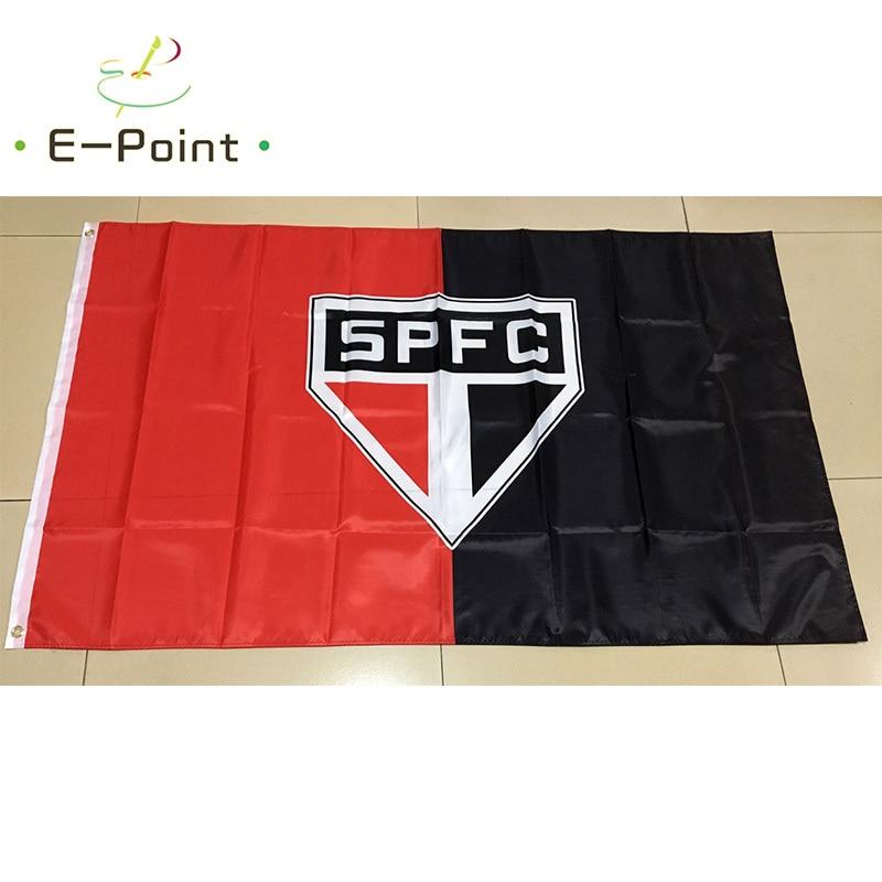 Бразилия Sao Paulo Futebol Clube FC 3 фута * 5 футов (90*150 см) размер рождественские украшения для дома флаг баннер Тип B подарки