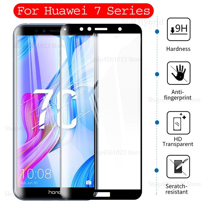 7C 7A Glass For Huawei Honor 7x 7a 7c Pro 7 X S A C X7 S7 A7 C7 7apro 7cpro 8 9 lite 8lite 9lite Vie