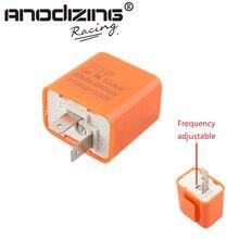Clignotant relais de moto 12V   2 broches, réglable fréquence, clignotant