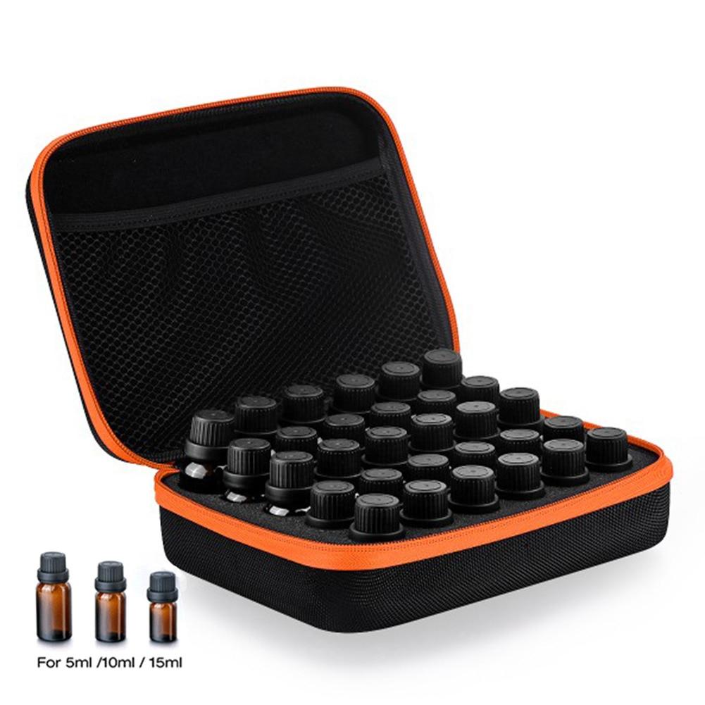 30-бутылка Эфирное масло Чехол Держатель 5ML10ML 15 мл Духи масло путешествия коробка для хранения Лак для ногтей Организатор сумка для хранения