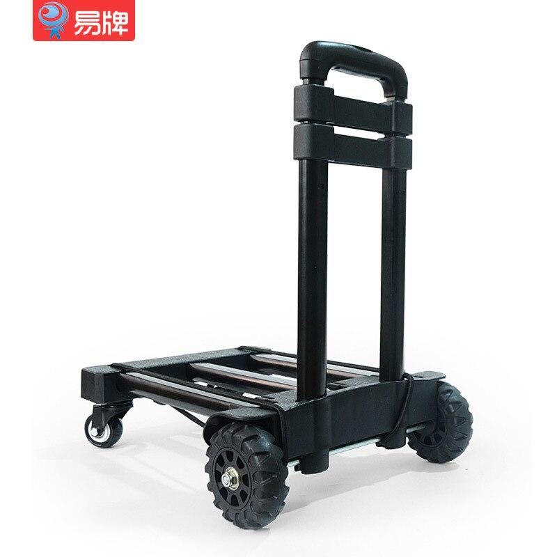 Fácil de tarjeta de carro de ruedas de diseño portátil Carro de coche de carga plegable del hogar Carro de equipaje móvil