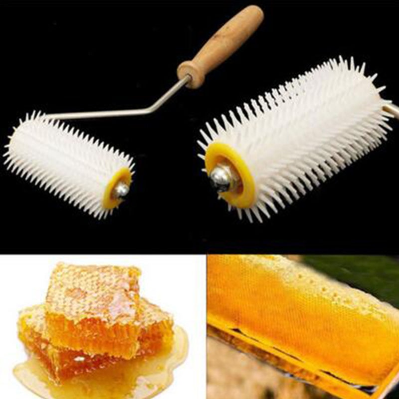Miel de abeja extraer Uncapping de rodillos de aguja de plástico de apicultura herramientas para peinar Kit de suministros para el jardín y hogar