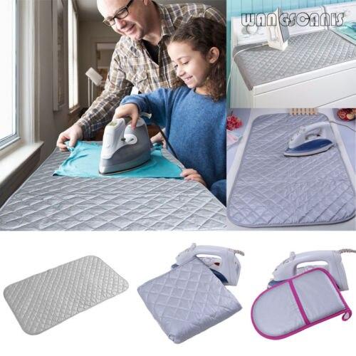 Tabla de planchar de algodón, cubierta de Manta, alfombrilla, alfombrilla de viaje, portátil