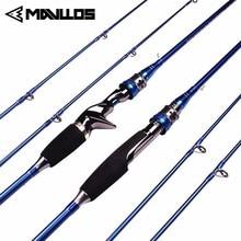 Mavllos M/MH 2 Tipps Carbon Angelrute Spinning Casting 1,8 m 2,1 m Locken Gewicht 3-20g Schnelle Action Salzwasser Spinning Stange 2 Abschnitt