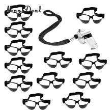 12 pièces professionnel basket Dribble Dribble Dribble lunettes spécifications lunettes dentraînement + sifflet équipements de Fitness en plein air
