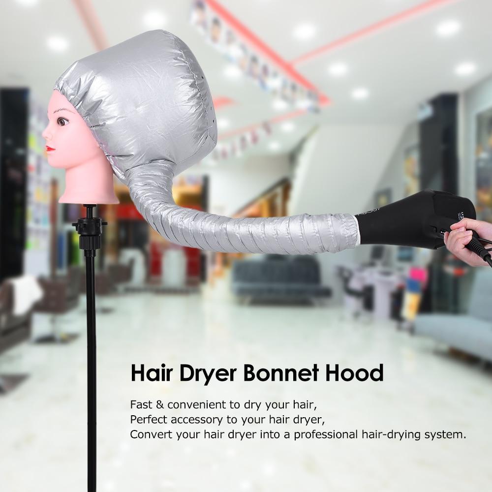 Secador de pelo capó Nylon accesorio para secador de pelo cubierta de cabeza tratamiento de aceite caliente sombrero para el hogar y salón barbero