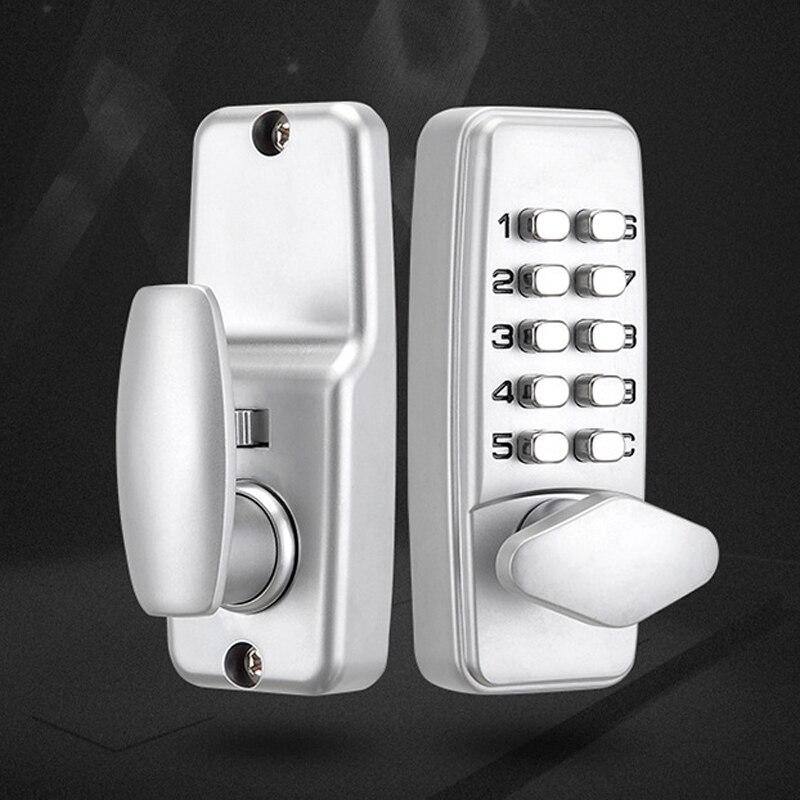 قفل باب بلوحة مفاتيح ميكانيكية ، قفل باب بدون مفتاح ، رمز رقمي ، أدوات الأجهزة