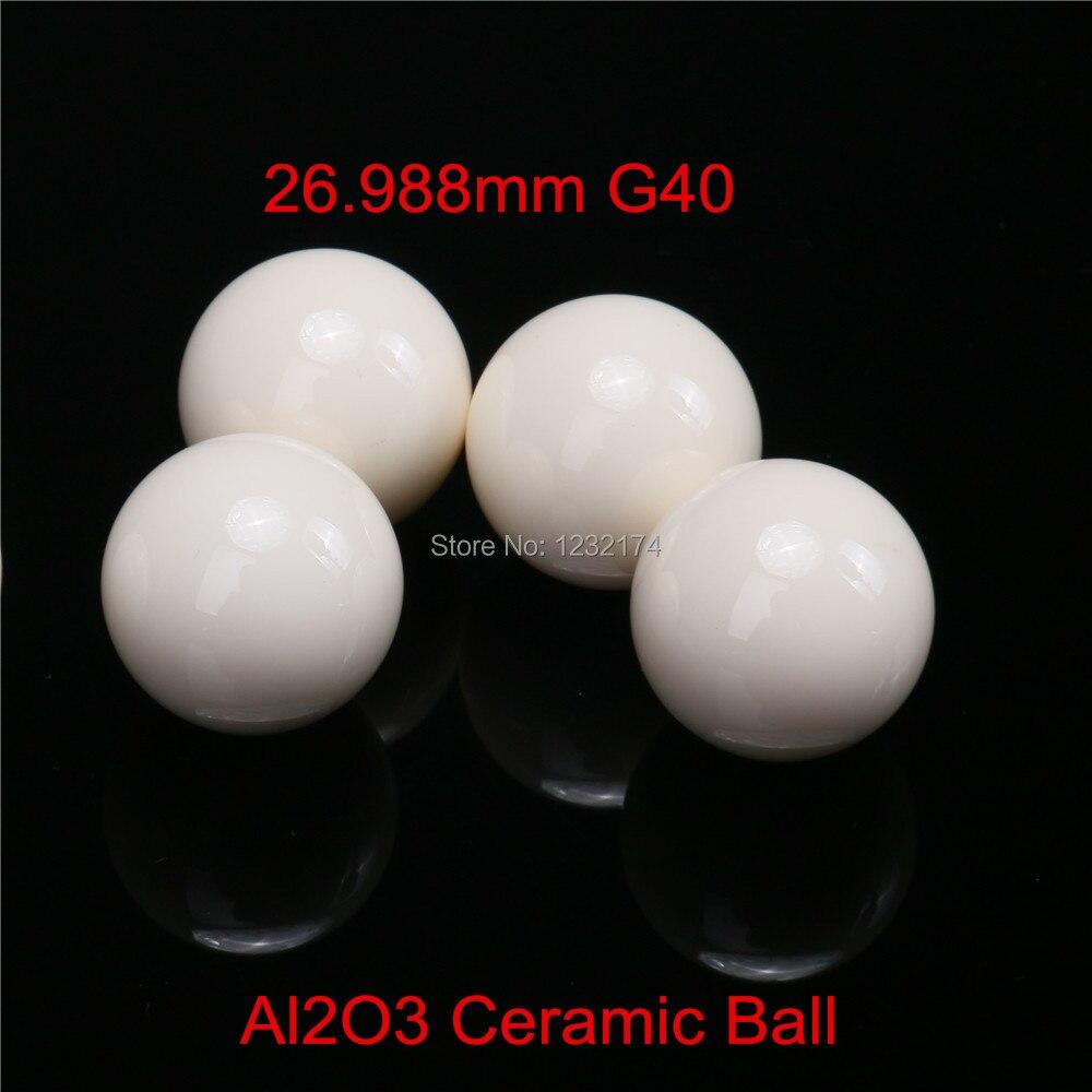 26.988 مللي متر الألومينا أكسيد السيراميك الكرة Al2O3 G40 تستخدم ل مضخة ، صمام و تدفق متر 26.988 مللي متر السيراميك الكرة