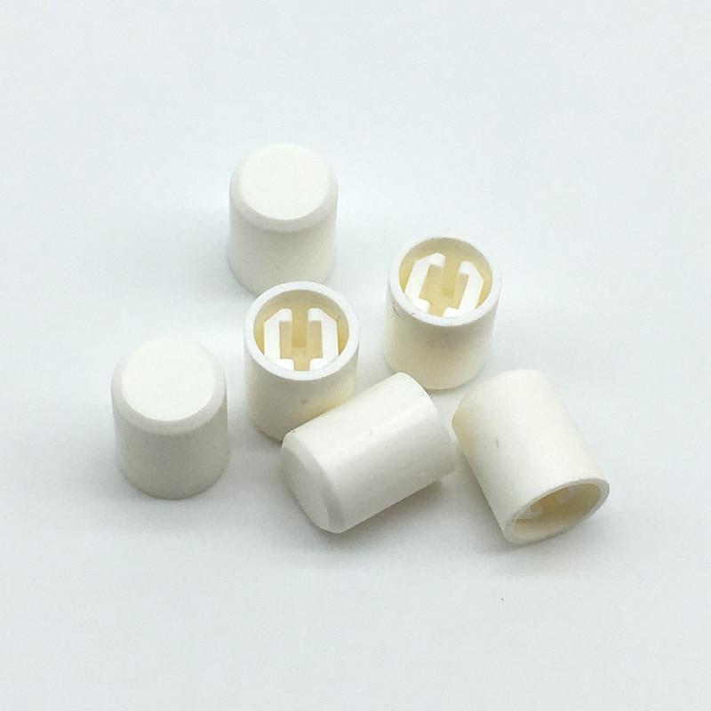 100pcs/lot Switch Button Cap White Color Power Switch Cap Straight Key Switch Cap