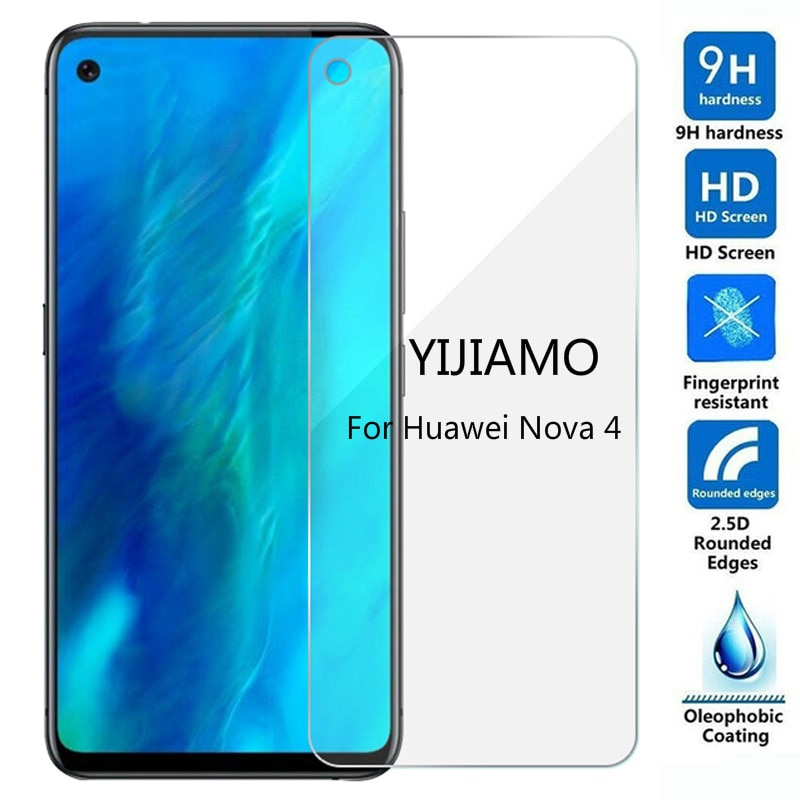 Tempered Glass For Huawei Nova 4 Screen Protector 9H Explosion-proof Protective Film For Huawei Nova