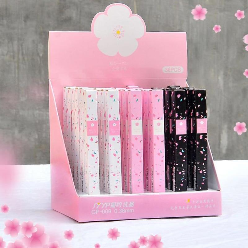 1pc adorável gel canetas bonito cereja canetas 0.38mm kawaii neutro canetas para crianças meninas presente escola material de escritório artigos de papelaria