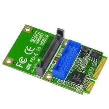 SSU U3121 البسيطة PCI-E Express ل USB 3.0 19Pin 20Pin بطاقة عنوان ل حاسوب شخصي مكتبي