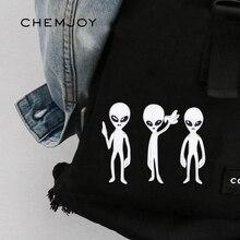 Lot de 3 Patch Alien fer sur Patch blanc brodé pour jean sacs vêtements autocollants Parches couture sur Applique