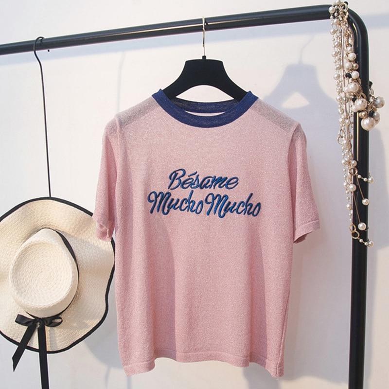 Camiseta de seda de hielo para mujer, camiseta divertida de punto, Camisetas...