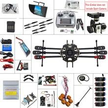 JMT 680PRO PX4 GPS 2.4G 10CH 5.8G vidéo FPV RC Hexacopter Kit complet non assemblé RTF bricolage RC Drone Combo MINI3D Pro cardan F07807-F