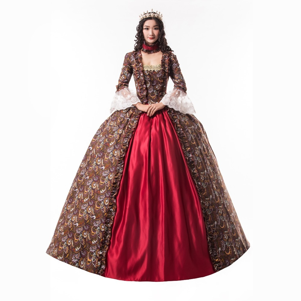 Hot Sale Georgian Gothic Dress Victorian Period Dress Theatre Clothing