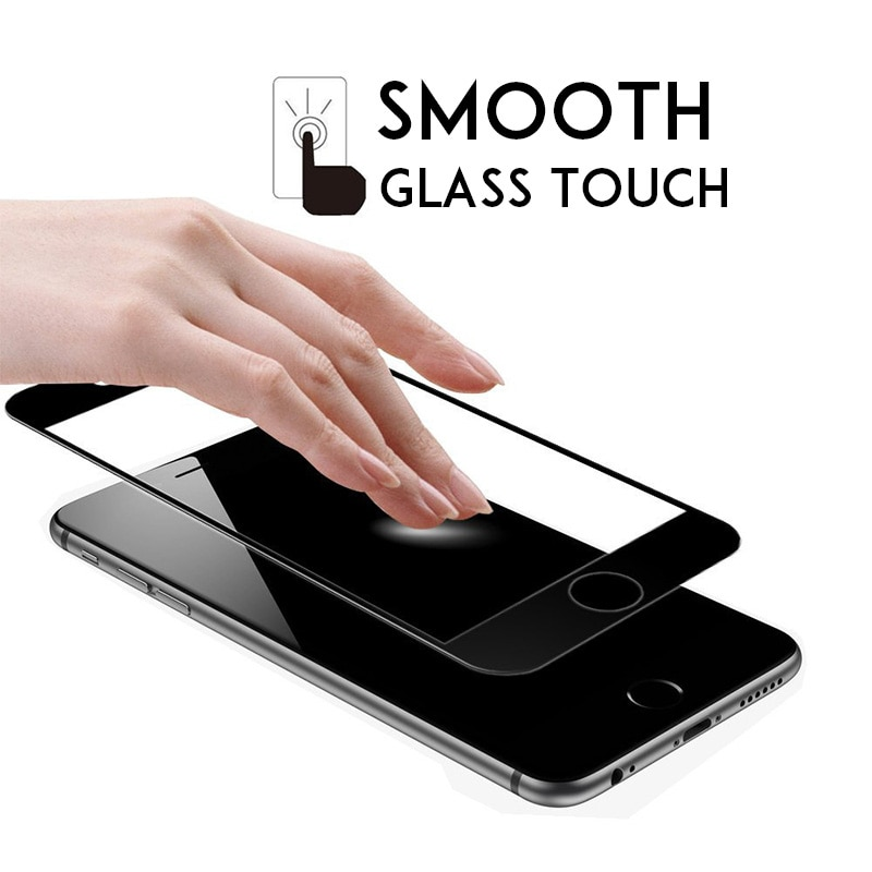 Hard Edge Protective Glass For IPhone 6 7 8 6s Film Screen Protector Full Cover Tempered Glass On Fo