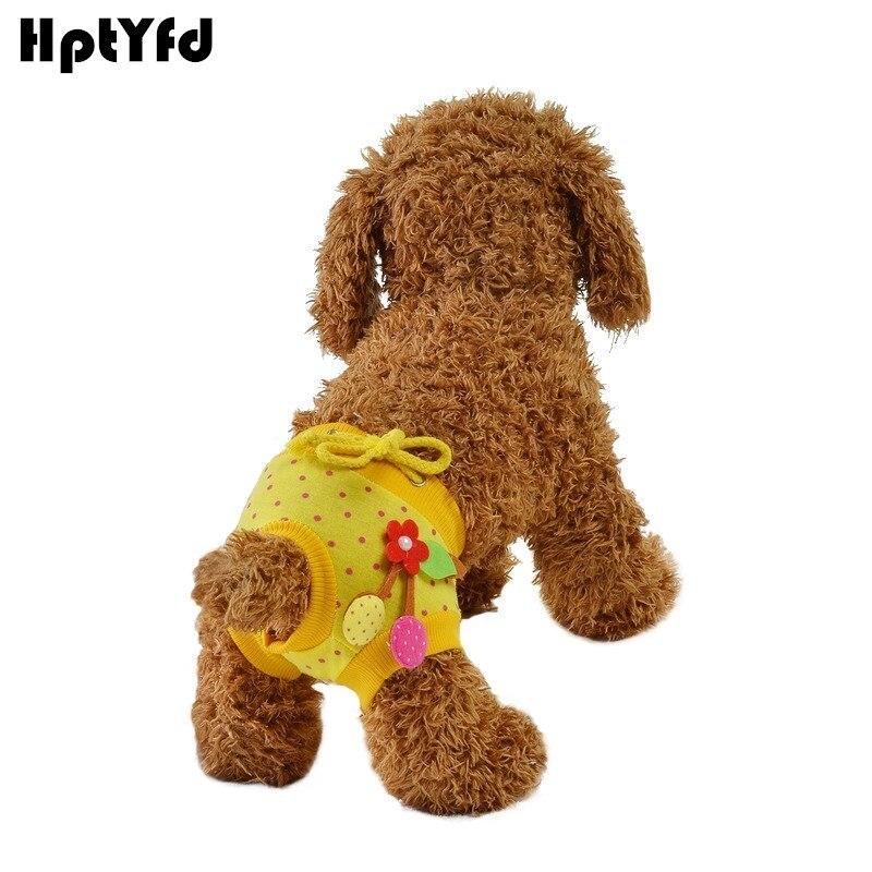 Pantalones fisiológicos para mascotas, ropa interior lavable para perros, ropa interior de algodón LaceSanitary, bragas higiénicas para perros, pañal corto