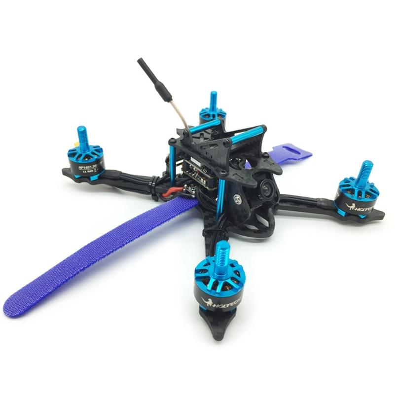 HGLRC XJB-VX145MM de fibra de carbono cuadricóptero FPV para carreras PNP con XJB-TX20 FPV Mini transmisor 3600KV Motor F4 Placa de control de vuelo