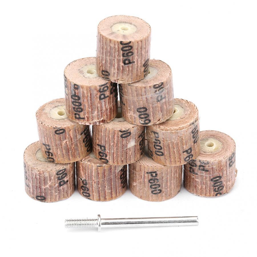 Rebolo 10 Pcs Lixar Moagem Polimento Flap Roda Cabeça Acessórios da Ferramenta Elétrica rebolo abrasivo de Desconto