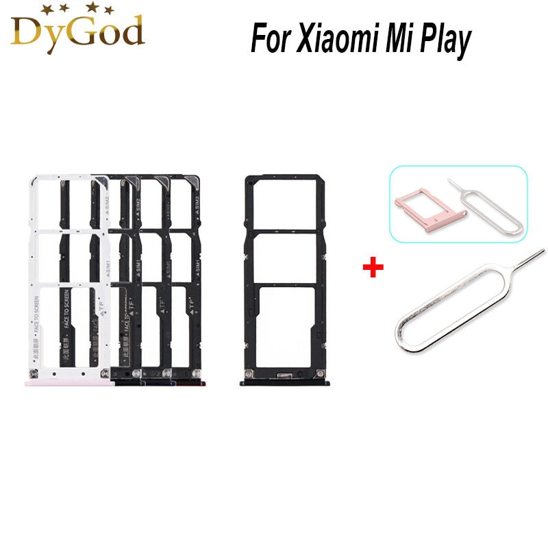 For Xiaomi Mi Play SIM Card Tray Slot Holder Adapter Repair Accessories With Take Sim Card Eject Too