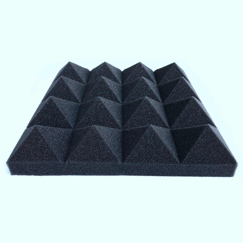Drop shipping 12 pcs Soundproofing Foam Sound Absorption Pyramid Studio Treatment Wall Panels 25*25*5cm Acoustic foam
