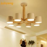 Nordic Solid Wood Chandelier E27 led light fixture for living room kitchen hotel home decoration  Large Chandelier 220v 110v