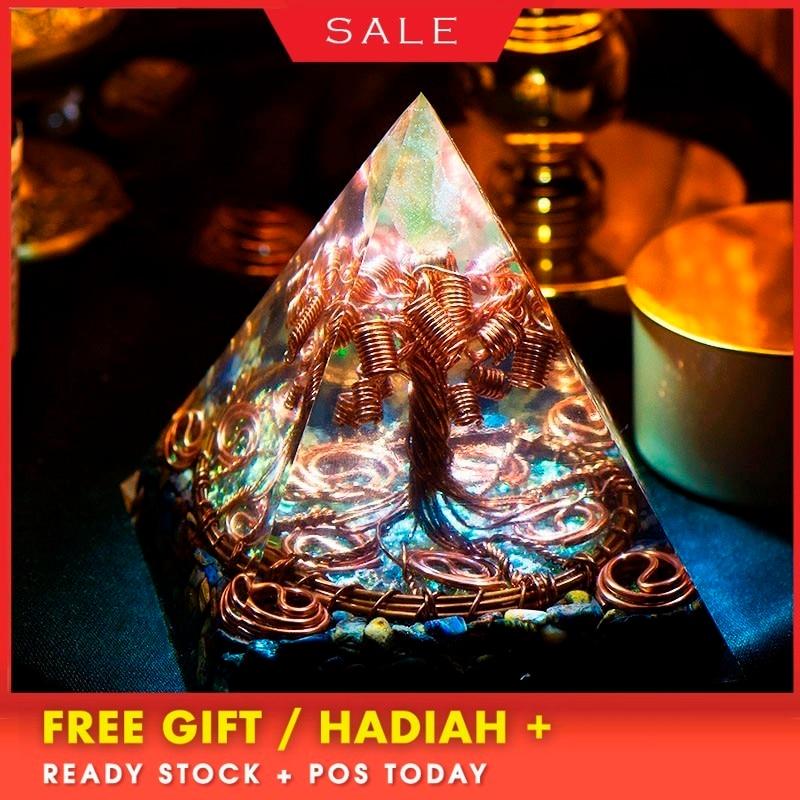 AURA REIKI Orgonite Tree Of Life Pyramid Energy Magnetic Field Converter Eliminate Negative Energy Aura Crystal Decoration