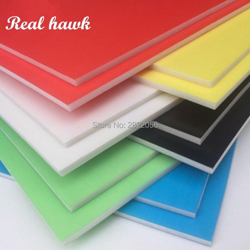10 Uds. 6 colores tamaño A4 297x210mm grosor 5mm Kt tablero espuma tablero papel plástico tablero material modelo para Modelo kt RC