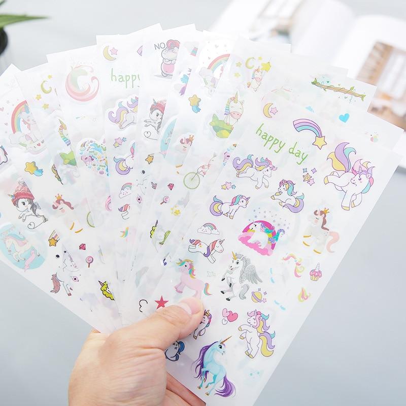 6-pz-set-unicorno-adesivi-decorativi-pvc-di-qualita-adesivi-scrapbooking-etichetta-bastone-diario-di-scuola-della-cancelleria-album-adesivi