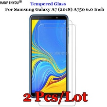2Pcs For Samsung Galaxy A7 2018 Tempered Glass 9H 2.5D Premium Screen Protector Film For Samsung Gal