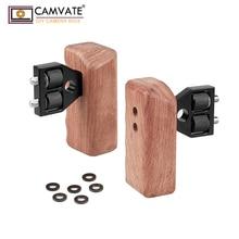 Poignée en bois DSLR 2 pièces avec connecteur pour caméra vidéo DV Cage C1346 accessoires de photographie dappareil photo