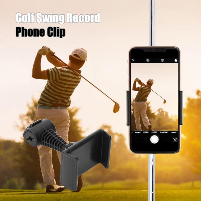Держатель для телефона ABS Golf Swing Record с зажимом для мобильного телефона, кронштейн для выравнивания, аксессуары для гольфа, тренировочные приспособления