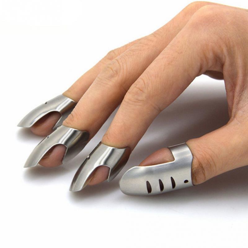 4PCS/Set Professional Stainless Steel Safe Slice Finger Guard Cooking Tools Finger Protector