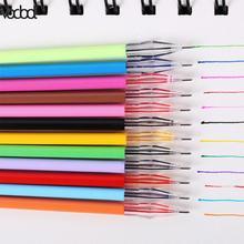 VODOOL 12 pièces/ensemble tête de diamant recharges crayon fournitures couleur bonbon rouleau bille Gel stylo recharge étudiant écriture peinture fournitures