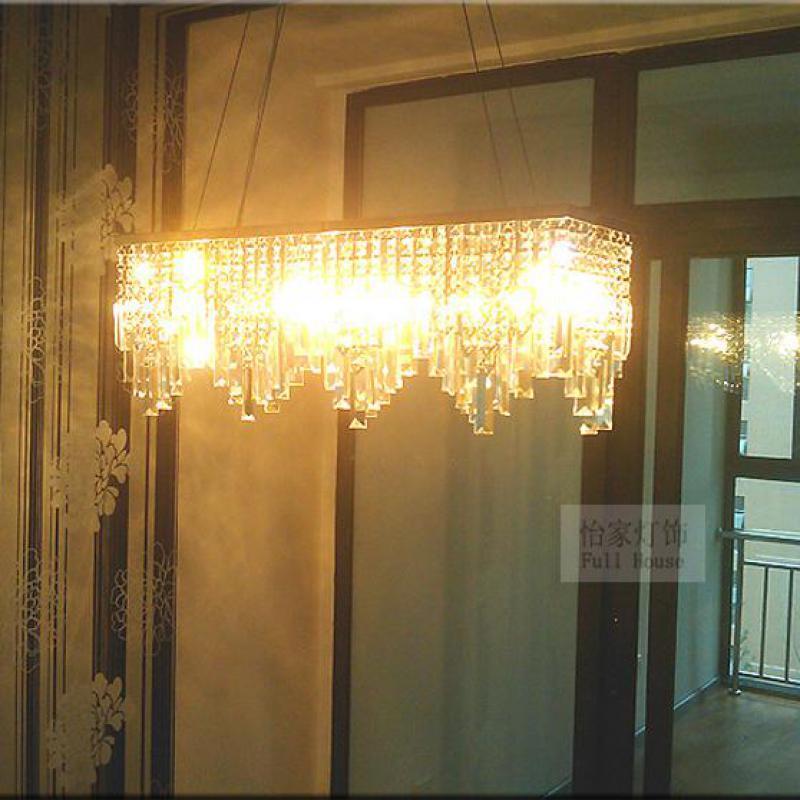 Italia Luz de cristal colgante para cafetería y comedor lustres de cristal...