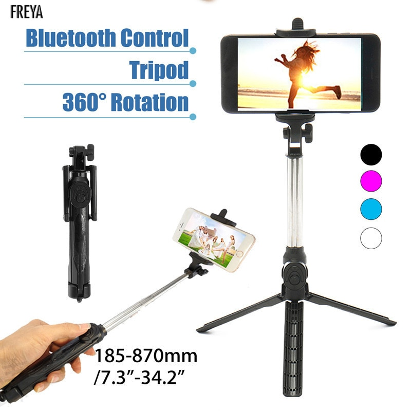 Palo Selfie inalámbrico extensible remoto, Mini trípode con controlador bluetooth para iPhone 5 6 7 8 Plus X, teléfono móvil inteligente