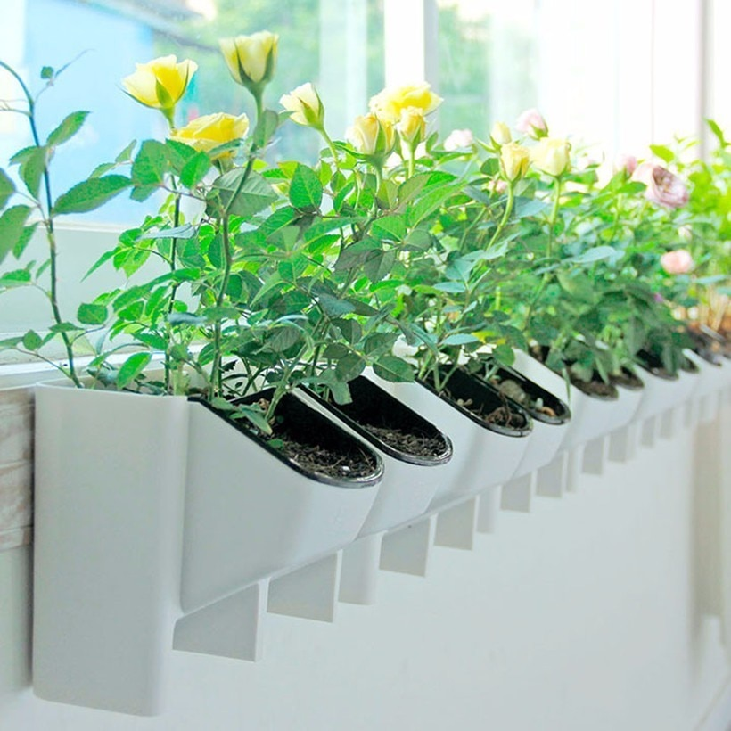 Wand Hängen Pflanzer Blumentopf Stapelbar Garten Blumentöpfe Wand Vertikale Sukkulenten Blumentopf Bonsai Green Home Decor Hot