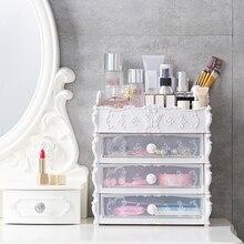 Mode Kunststoff Kosmetische Schublade Container Make-Up Organizer Box Für Lagerung Machen Up Schmuck Nagel Halter Hause Desktop Verschiedene Sto