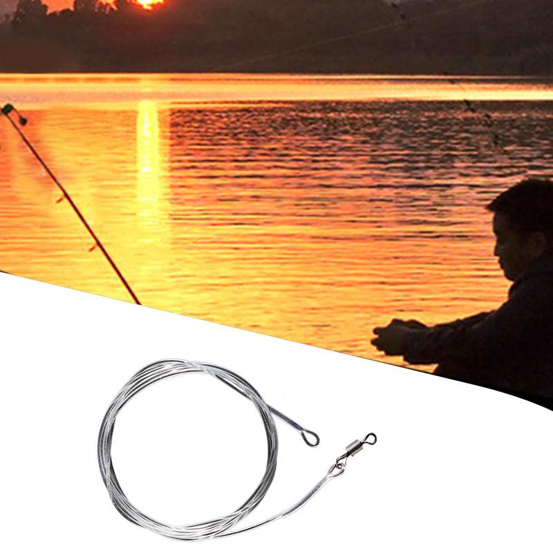 Alambre de conexión para pesca de carpa, guía frontal de pesca de estilo europeo, pesca con mosca segura, mate 1 M, anillo líder, alambre giratorio, pesca líder