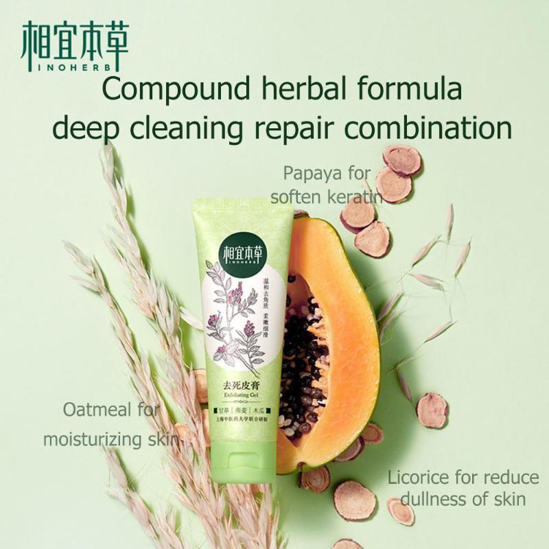 INOHERB Peeling Facial limpiador Facial exfoliante crema dental brillo cara exfoliante Gel