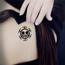 ONE PIECE Trafalgar Law cosplay Animation Cartoon logo tatoo tattoo Sticker XR076