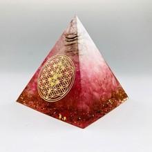 Halo énergie convertisseur 5-6cm Orgonite pyramide, symbolisant lamour apporte bonne chance résine décoration artisanat orgone