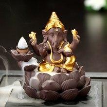 Encensoir indien Lord Ganesha-brûleur dencens à reflux   Décoration de bureau, de maison, décoration de salon de thé